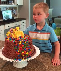 Paw Patrol Rubble birthday cake.