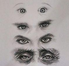 Eye Pencil Drawing, Realistic Pencil Drawings, Pencil Art Drawings, Art Drawings Sketches, Eye Drawings, Art Illustrations, Eye Art, Drawing Techniques, Art Sketchbook