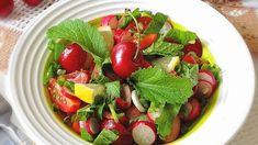 Летний горчичный салат с черешней