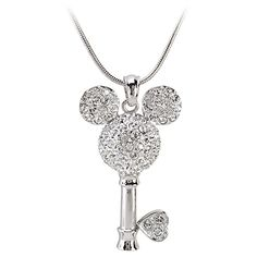Swarovski Crystal Key Mickey Mouse Necklace