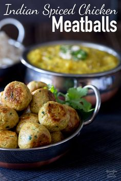These Indian Spiced Chicken Meatballs are sure to be a hit with the whole family!!! Tender, succulent and packed with wonderful spices. This is the deliciousness of curry in easy to eat meatball form. From Sprinkles and Sprouts.