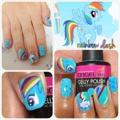My Little Pony Rainbow Dash Nail Art