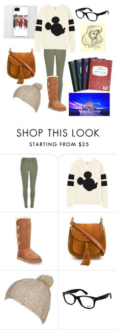 """I wanna go to Disney!!!"" by bonnie-and-newsies12 ❤ liked on Polyvore featuring River Island, Uniqlo, UGG Australia, Chloé, Billabong, Ray-Ban, Mead, Disney and Once Upon a Time"
