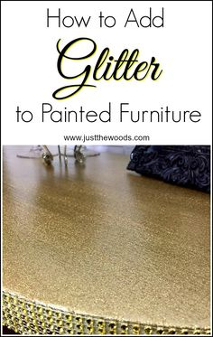 how to add glitter t