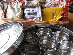 "KAUKAU TIME!--""Kaukau"" is a Hawaiian pidgin slang word meaning ""food"" or ""to eat."": Masala Dabba Indian Spice Tin Box"