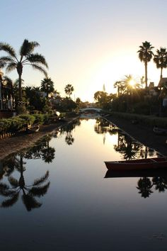 {Sunset at the Venice Canals}