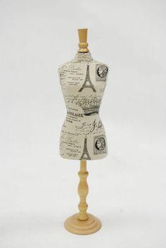 MINIATURE DRESS FORMS - torso dress form template | Display for ...