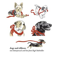 5 new designs in my Dogs and Ribbons line