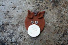 Fondant horse cupcake topper