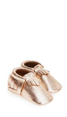tiny gold booties