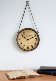Days Gone By Clock. Black and white movies, vintage fashion trends, Grandma's knickknacks  you've always been intrigued by the past, so you welcome this classic wall clock into your decor! #multi #modcloth