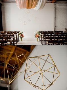 indoor wedding ceremony ideas Studio 1342 Photography by Dustin & Corynn Photography