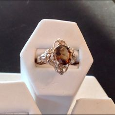 Cristo Gems and Jewelry Golden Brown Quartz Ring Jewelry Rings