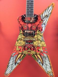 My custom Dean Guitar for the Six-String Masterpieces Exhibit. Guitar Art, Music Guitar, Cool Guitar, Dean Guitars, Beautiful Guitars, Custom Guitars, Musical Instruments, Musicals, Planks