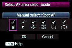 canon 5d mark III mk 3 autofocus auto focus af point zone 61 af area selection mode