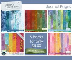 Journal Pages by #JilbertsBitsOfBytes part of the 5 for $5 at #thestudio #digitalscrapbooking