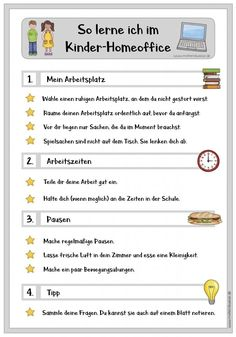 Plan für das Kinder-Homeoffice Plan for the children's home office in times of the corona crisis # Children's home office After School Routine, School Routines, School Schedule, Daily Routine Kids, Daily Schedule Kids, School Snacks For Kids, School Planner, La Formation, School Programs