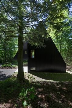 Dwell - FAHouse: A Double Triangular House in the Forest