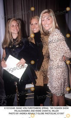 Marie-Chantal Miller Picture -  Diane Von Furstenberg Spring 98 Fashion Show Piaalexandra and Marie Chantal Miller Photo by Andrea RenaultGlobe Photosinc