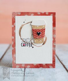 Three In the Nest Creations (Chrissy) Lil' Inker Designs - Silly Stitched Dies, Love You Paper, Coffee Cozy Die Set, Coffee Cozy Stamps