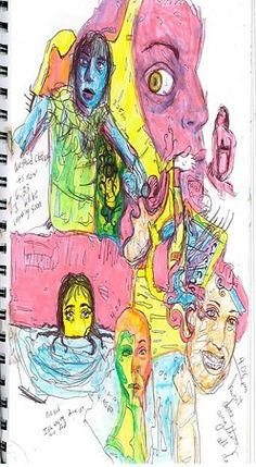 """""""3:25 pm sketch"""" - pen & marker, in Sketchbook"""