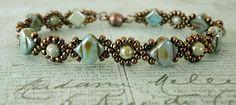 Linda's Crafty Inspirations: Bracelet of the Day: Cindy Bracelet - Chalk Lazure Blue