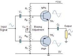 Class AB Amplifier Voltage Biasing Electronic Pinterest