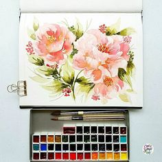 "2,718 Likes, 29 Comments - Calligrafikas by Drew Europeo (@calligrafikas) on Instagram: ""Peonies for the start of the week  #dreweuropeo #calligrafikas #grafikas #watercolor…"""