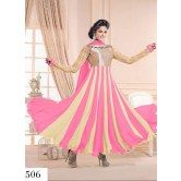 anarkali-salwar-suit-chiku-and-pink