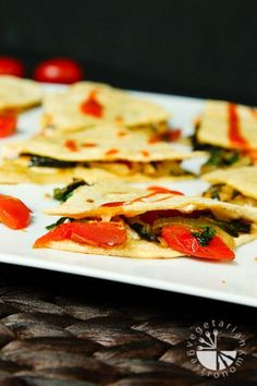 squash blossom roasted poblano and cherry tomato quesadillas squash ...