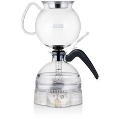 Bodum Epebo Electric Siphon/Vacuum Coffee Maker ($200) ❤ liked on Polyvore featuring home, kitchen & dining, small appliances, black, coffee press pot, coffee presses, french coffee press, bodum and black coffee maker