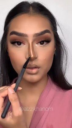 Nose Makeup, Edgy Makeup, Glamour Makeup, Contour Makeup, Hair Makeup, Maquillage Yeux Cut Crease, Nose Contouring, Makeup Tutorial Eyeliner, Makeup Makeover