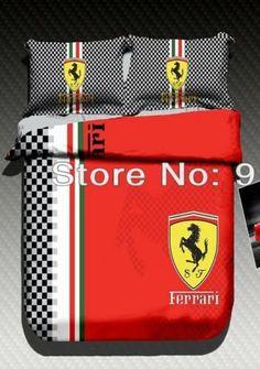 Boy Car Room, Ferrari Car, Home Comforts, Queen Duvet, Childcare, Duvet Cover Sets, Red Black, Kids Room, Lunch Box