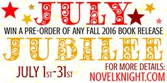 We're halfway through the year! Celebrate by entering to win a Fall 2016 book release pre-order! The giveaway ends on July 31, 2016 and will have 2 winners!