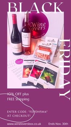 Get the Wine Lovers Box at a discount with FREE shipping this Black Friday! Offer end on Nov. 30th Boxing Today, Subscription Boxes, Black Friday, 30th, Lovers, Wine, Free Shipping, Drinks, Bottle