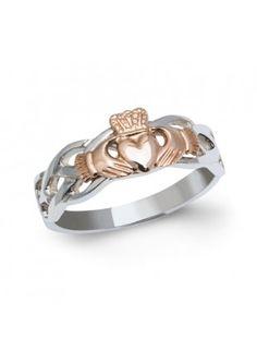 ladies-celtic-interlace-claddagh-ring