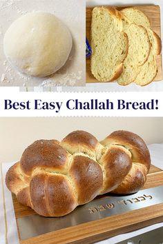 Challah Bread Recipes, Easy Bread Recipes, Challa Bread, Tasty, Yummy Food, Healthy Food, Challah French Toast, Braided Bread, Bread Baking