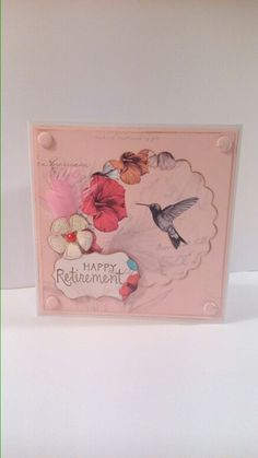 Retirement card using craftwork cards paradise collection papers