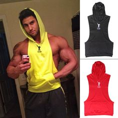 ZYZZ Bodybuilding Stringer Hoodies Men Gym Stringer Hoodie Fitness Tank Top Cotton T Shirts Camisetas de tirantes hombre GASP-in Tank Tops from Men's Clothing & Accessories on Aliexpress.com | Alibaba Group