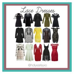 """""""Lace Dresses"""" by hollyearleyxo on Polyvore featuring Alexander Wang, Valentino, RED Valentino, self-portrait, Balmain, Rachel Zoe, N°21, Diane Von Furstenberg, Adrianna Papell and WithChic"""