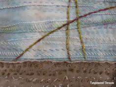 Shoreline Grasses detail - Penny Berens of Tanglewood Threads