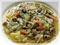 Barafras Kochlöffel: Ein kurzer Wintereinbruch oder: Lust auf Weißkrautsuppe mit Hackfleisch und Kartoffeln