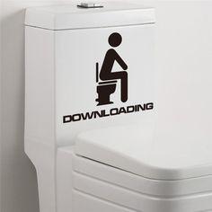 Бесплатная доставка забавный ванная комната туалеты вход знак виниловые наклейки для магазин офис домой кафе отеля дверь таблички
