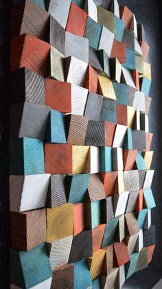 geometric wood art wood art wall art abstract painting on wood wall installation wood pattern wood mosaic wooden wall panels, wood sculpture geometric art installations Wooden Wall Panels, Wood Panel Walls, Wooden Walls, Wood Paneling, Wall Wood, 3d Wall Panels, Wooden Wall Art, Art On Wood, Scrap Wood Art