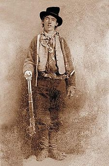 Henry McCarty (reportedly November 23, 1859 - July 14, 1881), better known as Billy the Kid, but also known by the aliases Henry Antrim and William H. Bonney, was a 19th century American frontier outlaw and gunman who participated in the Lincoln County War. According to legend, he killed over 20 white men and a number of Mexicans and Indians, but he is generally accepted to have killed four men.
