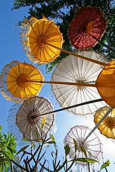 something as simple as umbrellas can make the world a happier place. Umbrellas in Bali - photo by Bertrand Linet