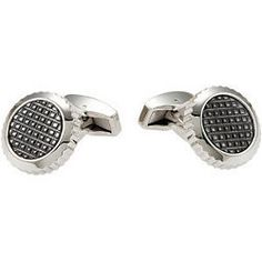 Stainless Steel Cuff Links with Carbon Fiber Jewelry by JPoliseno