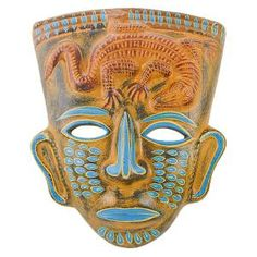 Hand-painted+in+Jalisco,+Mexico,+these+beautiful+ceramic+masks+are+carefully+crafted+using+traditional+processes.+Each+is+striking+in+its+detail+and+design.+These+masks+make+a+bold+statement+and+will+add+color+and+character+to+any+room.