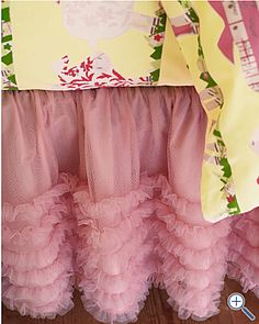 I've always wanted a tulle bedskirt for my daughter's room!