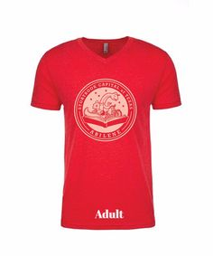 PRE-ORDER - Short Sleeve Storybook Logo Shirt - Red - Adult #Abilene #AbileneTX #StorybookCapitalofTexas #Shirt #Tshirt #GraphicTshirt